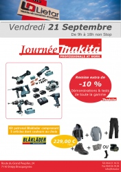 MAKITA : vendredi 21 septembre 2018